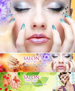 Banner dịch vụ Spa làm đẹp, mỹ phẩm, thẩm mỹ sắc đẹp